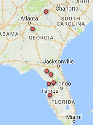 Visit independentmail.com for an interactive map of places to visit while going to Tampa. Map created using Google Fusion Tables.