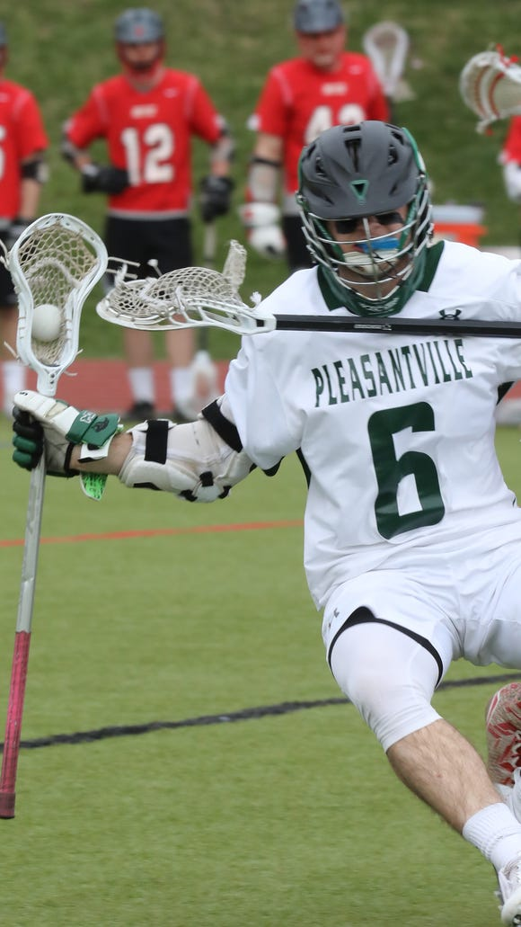 Pleasantville defeats Rye 13-9 during boys lacrosse