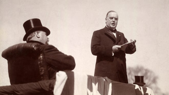 President William McKinley delivering his inaugural address, March 4, 1897