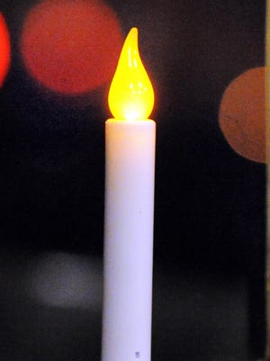 An electric candle.