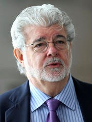 In this Jan. 16, 2014, photo George Lucas speaks in