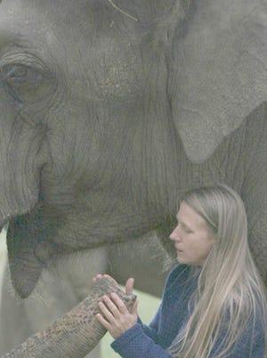 Carol Buckley and her 42-year-old elephant, Tarra.