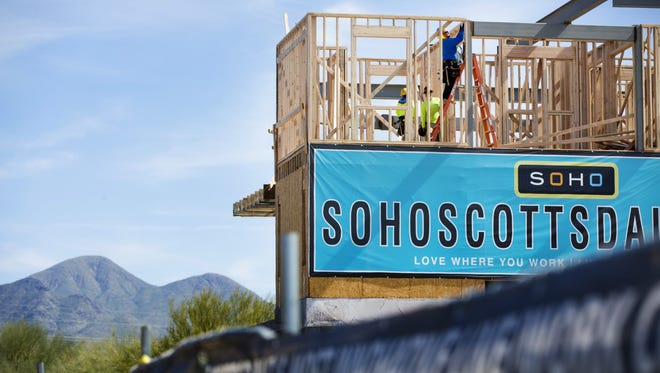 """A controversial provision within Scottsdale's zoning code allows developers to get """"bonuses"""" of extra building height and density in exchange for certain public benefits. SoHo Scottsdale on the corner of 92nd Street and Bahia Drive has taken advantage of this provision."""