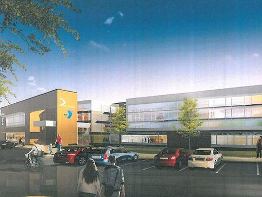 Community and aquatics center sketch