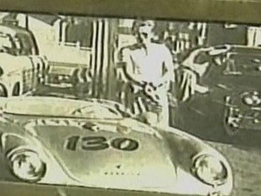 James Dean with his 1955 Porsche 550