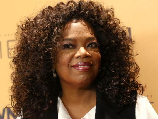 "Oprah on October 14, 2015 at premiere of the Oprah Winfrey Network's (OWN) documentary series ""Belief,"" in New York."