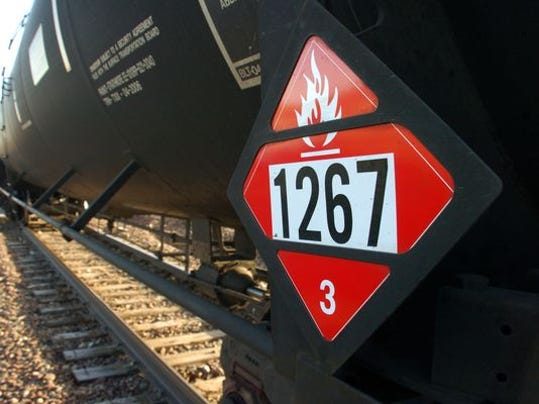 U.S. Rep. Nita Lowey plans to introduce legislation next week that would ban freight trains hauling untreated volatile Bakken crude oil. The crude oil, which contains methane and butane, is more flammable than traditional heavy crude oil. (Photo: File photo/AP)