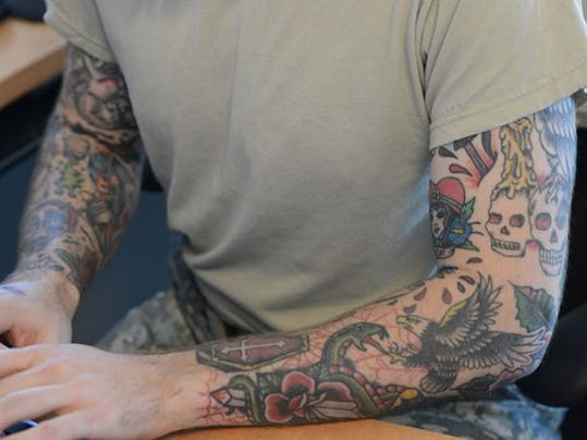 Army may ease tattoo policy for Army officer tattoo policy