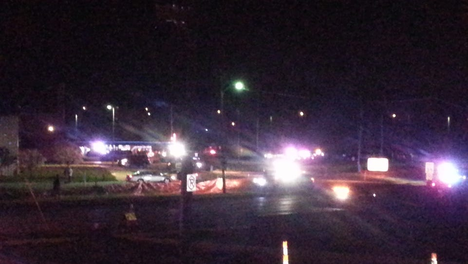 Police and emergency vehicles converge on the Val Air