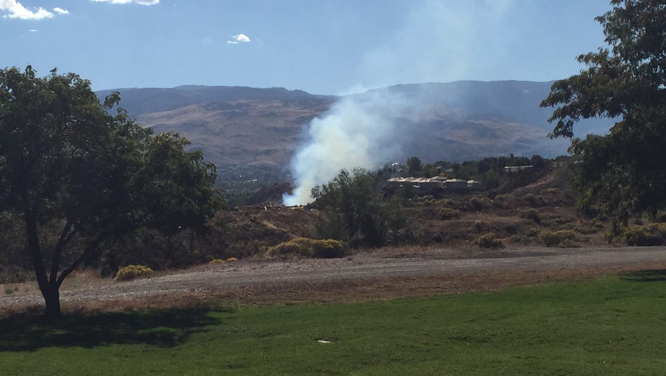 Brush fire that began on 4th Street in Reno on Tuesday