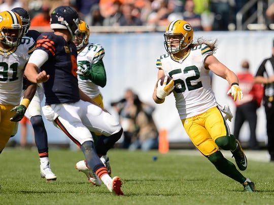 Green Bay Packers linebacker Clay Matthews (52) looks