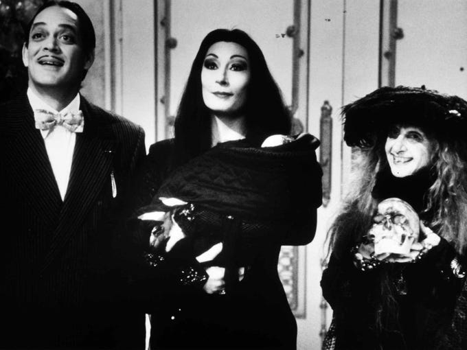 """""""Addams Family Values"""" (1993) stars (from left) Raul"""