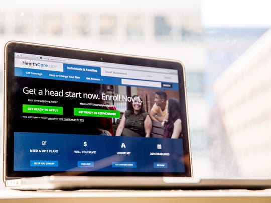 In this Oct. 6, 2015, photo, the HealthCare.gov website,