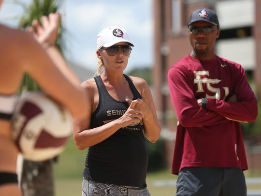 Florida State head coach Brooke Niles looks to lead her squad to their first NCAA Tournament title in program history this weekend in Gulf Shores, Alabama.