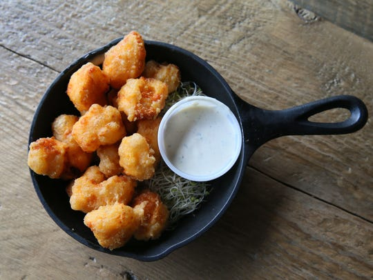 Cheese curds, such as this deep-fried version from