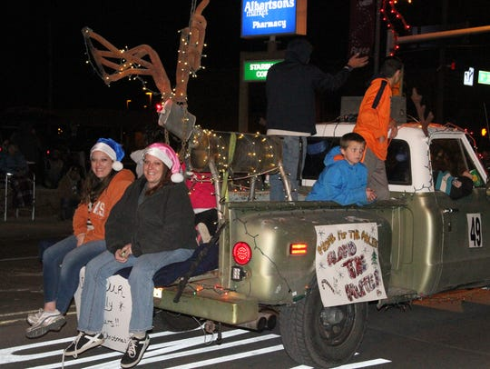The Alamogordo Christmas Parade had 82 floats in the