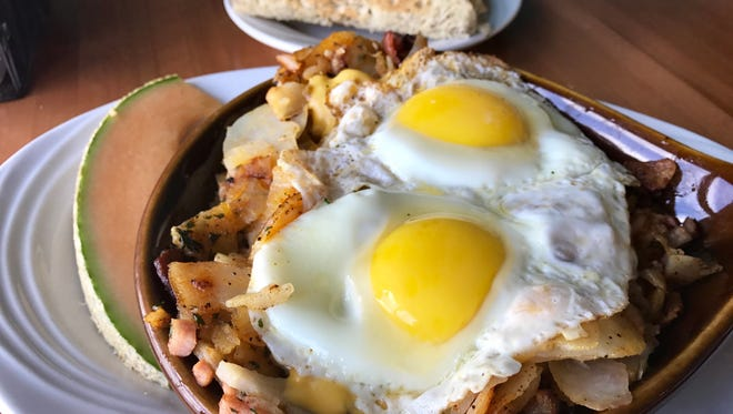 The scratch-made skillets, served at breakfast or lunch, are a Hot Dish from Golden Fork Cafe.