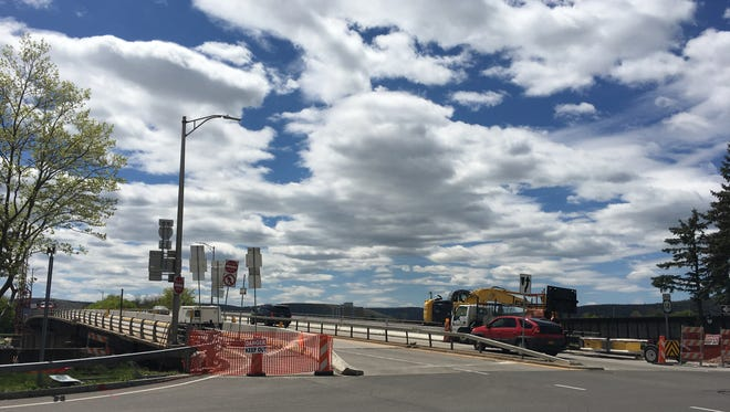 Traffic on the Clemens Center Parkway bridge in Elmira is down to one lane in each direction during a $3.8 million bridge rehabilitation project.