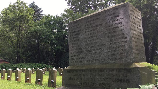 Confederate Rest monument at Forest Hill Cemetery in Madison.