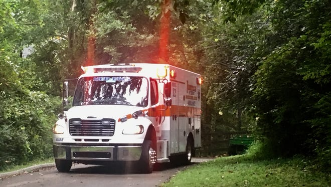 Emergency crews responds to a death on the train tracks near the Stones River Greenway in Donelson, Tuesday Aug. 29, 2017