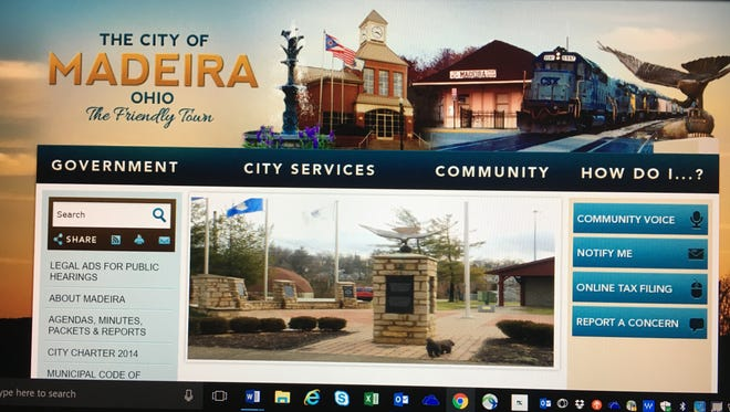 Madeira's website includes information vital to the city, as well as images that reflect the community.