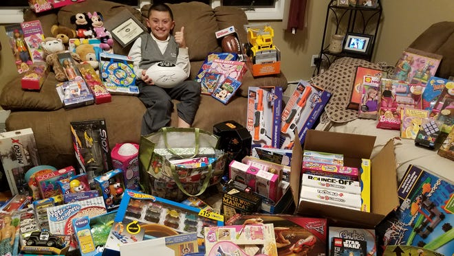 In honor and memory of a special friend, Rocco Santamassino, 10, works hard every year to bring smiles to sick children at Christmas.Afifth-grade student at St. Francis Cathedral School in Metuchen, Rocco collects toys in memory of Giuliana Velona, a classmate who died in 2014 from a rare cancer.