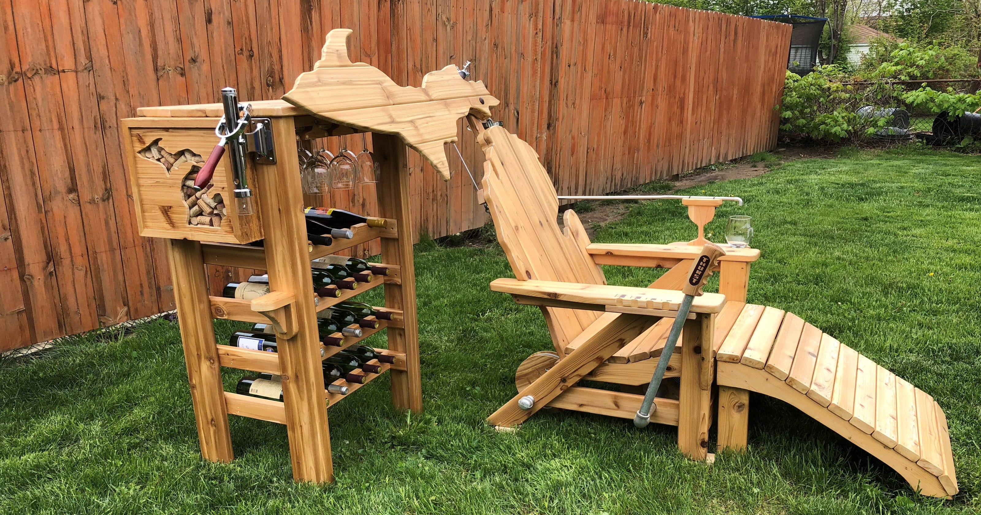 Michigan Man Builds Lawn Chair That Will Pour You A Glass