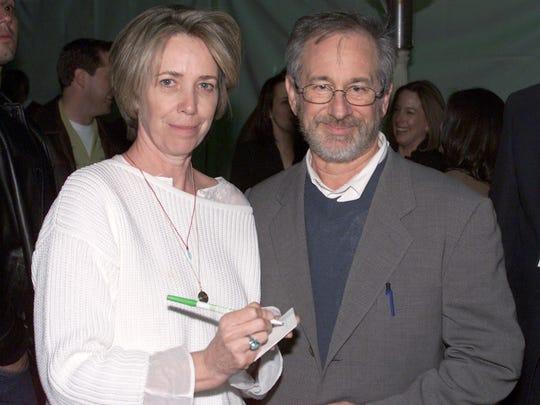 Writer Melissa Mathison and Steven Spielberg.