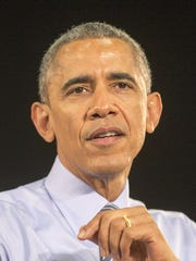 President Barack Obama is shown speaking at Ivy Tech Community College in Indianapolis, Friday, Feb. 6, 2015, where he touted his plan to make community college free for some students.