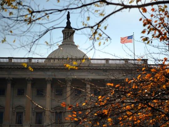 The US Senate members balcony on the Nor