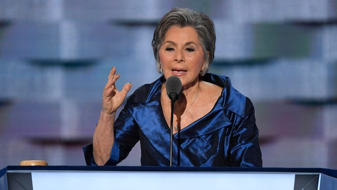 Sen. Barbara Boxer, D-CA, speaks during the 2016 Democratic National Convention.