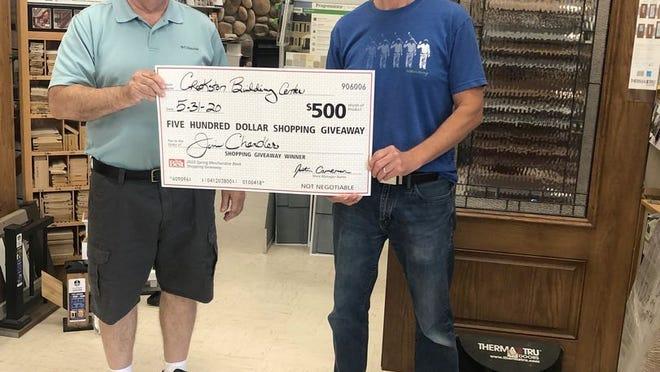 Jim Chandler is a $500 winner