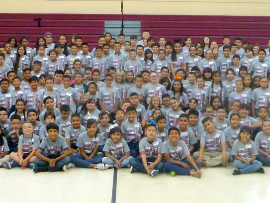 Over 200 students in grades 3 through 5, took part
