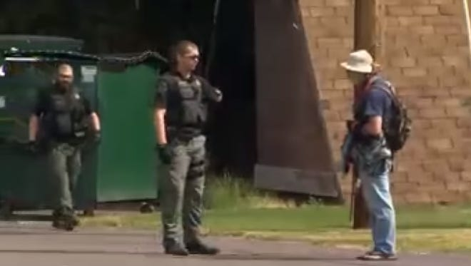 A sheriff's deputy can be seen repeatedly punching a local transient during an arrest Monday morning in a video taken by KGW.