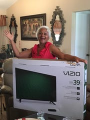 The winner of the 39-inch TV raffle was Ernesta Monroe of Port St. Lucie.