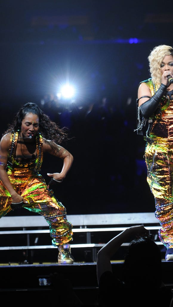 Chilli and T-Boz perform at Madison Square Garden in