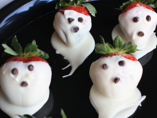 "These strawberry ""ghosts"" did not resemble ghosts at all."