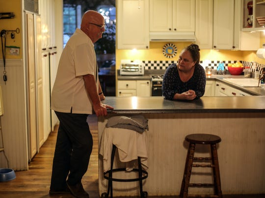 David and Luanne Kling, the parents of slain Palm Springs police officer Lesley Zerebny, in the kitchen of their Hemet home.