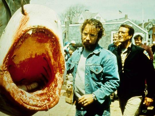 """Richard Dreyfuss and Roy Scheider in """"Jaws"""" (1975)."""