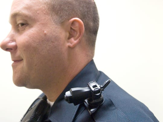 Burlington Police Patrol Sgt. Paul Glynn was one of several Burlington officers testing out a new wearable camera system in 2011.