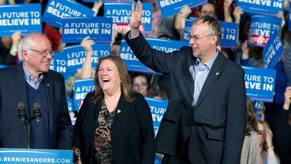 Ex-Democratic presidential candidate Sen. Bernie Sanders,