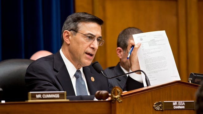 Rep. Darrell Issa, R-Calif., at a House Oversight Committee hearing Benghazi on May 8, 2013.