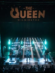 The Queen's new logo is now featured prominently above the venue's downstairs stage.