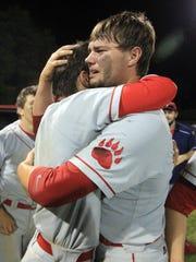 BHP High School's Jake Crawford, left, and Blake Holliday