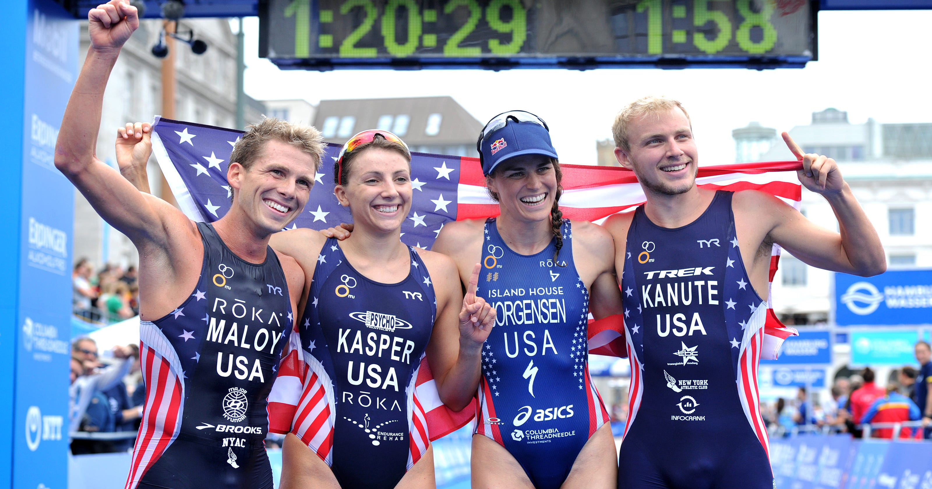 Olympics Us Triathletes See Golden Opportunity In Relay Electric Virginia Beach