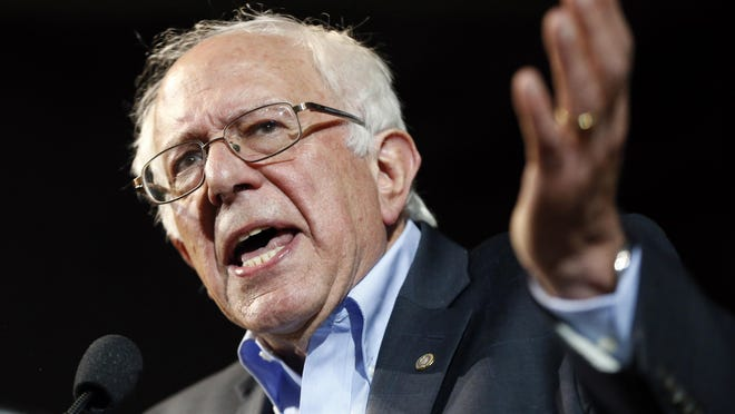 Democratic presidential candidate Sen. Bernie Sanders, I-Vt., speaks at a July 6 campaign rally in Portland, Maine.