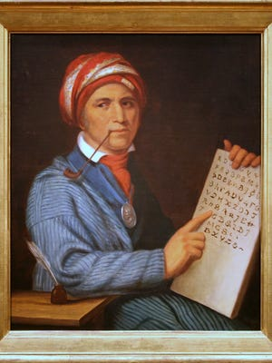 Sequoyah devised a syllabary for the Cherokee language around 1821.