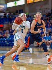 FGCU senior guard Jessica Cattani has almost fully