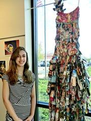 Annaliese Ferguson stands alongside her grand-prize