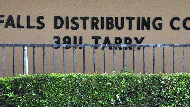 Falls Distributing Company located on Tarry Steet in Wichita Falls.